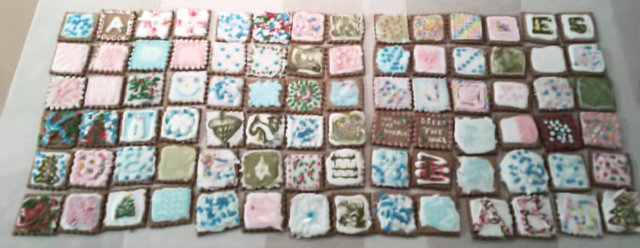 A quilt of cookies